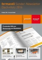 fermacell Sonder-Newsletter zur DACH+HOLZ International